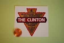 Clinton 4 Cycle engine decal repro small; Michigan