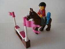 LEGO CITY   braunes  Pferd  mit  Reiterin  und  einem  Hinderniss   NEUWARE