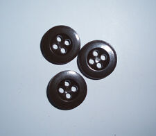 Original WW2 German brown plastic button, 14 mm