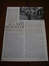 1961 SYDNEY ALLARD DRAGSTER RACE CAR   ***ORIGINAL ARTICLE***