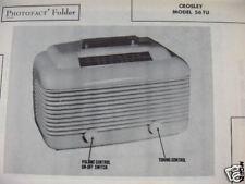 CROSLEY 56TU RADIO PHOTOFACT