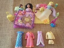 Polly Pocket POLLY GOES: To A Slumber Party! Sleepover Pajamas Accessories Q89