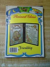 Friendship Message Stained Double Pane Glass (great gift for someone special!)