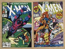 Uncanny X-Men 286 & 281🔑 Death of Emma Frost🐧 1st Trevor Fitzroy🔥