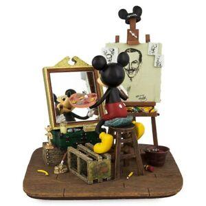 Disneyland Paris Mickey Mouse Self-Portrait Figurine, New in Box   N:2015