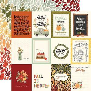 2 Sheets of Carta Bella Paper HELLO AUTUMN 12x12 Cardstock - Fall Floral