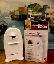 Hamilton Beach Smooth Edge Electric Counter-top Can Opener 76600 White Euc