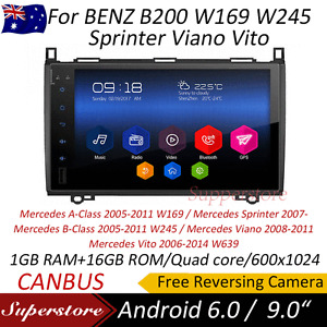 Android 9.0 quad core GPS Car Multimedia  For BENZ B200 W169 W245 Sprinter Viano