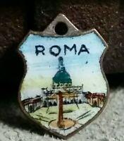 Vintage metal ROMA ROME ITALY souvenir charm prize jewelry