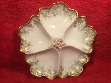 Antique Limoges T&V Porcelain Oyster Plate c.1892-1900, op391 GIFT QUALITY!!