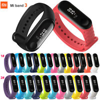 Replacement Silicone Wrist Strap WristBand Bracelet + Film for Xiaomi Mi Band 3
