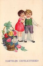 BG9202 hartelijk gefeliciteerd children congratulations  greetings netherlands