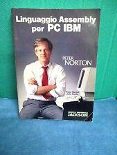 Norton Socha LINGUAGGIO ASSEMBLY PC IBM - Jackson I ed 1988 Peter Norton RARO