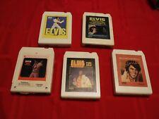 Lot 5 Elvis Presley 8 Track Tapes Aloha Hawaii Frankie Johnny Pure Gold Welcome