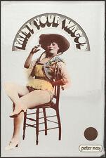 PAINT YOUR WAGON PETER MAX POSTER 3 CLINT EASTWOOD FOIL PAPER 1969 SUPER RARE
