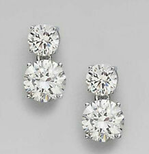 4ct & 3 Ct Off White Moissanite Dangle Earrings Women Cz Jewelry Gift