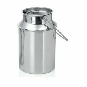 Stainless Steel Milk Storage Canister Bucket Balti Dairy With Lid Handle 2 Lt