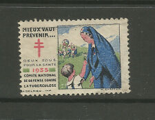 France 1935 Anti-Tuberculosis (Tb) charity stamp/label