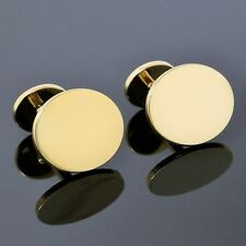 Tiffany & Co. Oval Cuff Links in 18k Yellow Gold 750 Rare Brand New Condition