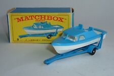 Matchbox Series No. 9, Cabin Cruiser and Trailer, - Superb Mint.