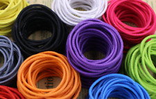 25 x Strong Snagless Girls Rubber Hair Ties Elastics Bands 10+ Cols - Size 4cm
