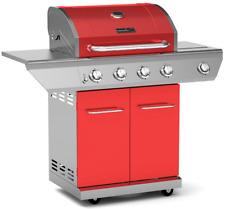 Nexgrill Propane Gas BBQ Grill 4-Burner with Side Burner 60,000 BTU Barbecue Red