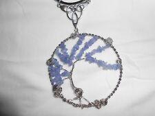 Celtic Irish Tanzanite Fairy Tree of Life Necklace