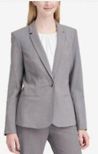 Calvin Klein One-Button Blazer Grey 12