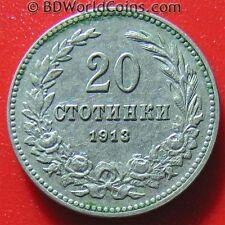 BULGARIA 1913 20 STOTINKI (under Turkey) BULGARIAN COLLECTABLE WORLD COIN 26mm