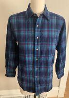 Vintage Pendleton Wool Button Up Flannel Shirt Plaid Size M