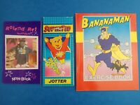 Vintage 1980's RETRO NOTEBOOKS Roland Rat Super Ted Bananaman - Some part used