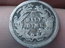 1865-S Seated Liberty Half Dime- Rare Key Date