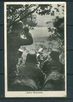 Foto AK - 2. Weltkrieg - unsere Wehrmacht - gelaufen mit 2 Feldpoststempeln