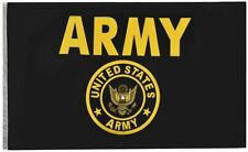 Us Army 3'x5' Military Gold n Black Flag Polyester with Grommets Indoor Outdoor