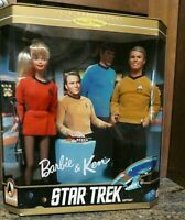 1996 30TH ANNIVERSARY COLLECTOR EDITION OF STAR TREK BARBIE & KEN GIFTSET NRFB