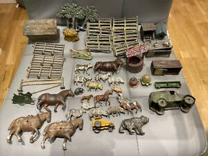 F G TAYLOR & SONS AND BRITAINS LEAD FARM ANIMALS HAYSTACK HUTCH'S BEEHIVE ETC.
