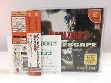 Sega Dreamcast BIOHAZARD 3 last escape w/spine Japan JP GAME z4016