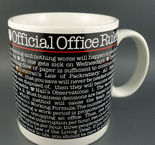 Coffee Mug Official Office Rules 1983 Toscany Japan 14oz Gift Ceramic Vintage