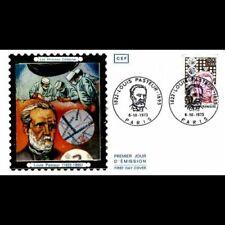FDC CEF soie - 150e anniv naissance de Pasteur - 6/10/1973 Paris
