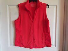 EUC Tek Gear womens Lfleece peach zippered sleeveless vest