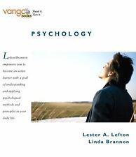 Psychology, VangoBooks Lefton, Lester A., Brannon, Linda Paperback Used - Good