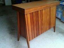 Retro Vintage Mid Century Atomic Style Timber Drinks Bar Cabinet Cupboard