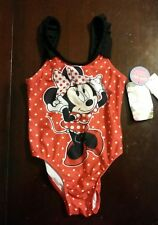 Girl's size 2T polka dot Disney Minnie Mouse swimsuit NWT
