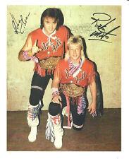 m458 Rock and Roll Express signed wrestling 8x10 w/Coa *Bonus*