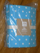 New Pottery Barn PBTeen Full Dottie Sheet Set Teal