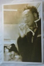 Contemporary Photo Black Man Smoking Cigarette in Sepia Tone 842