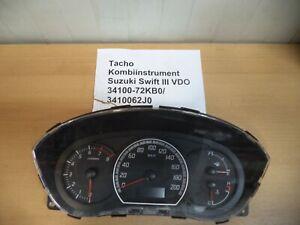 Suzuki Swift 3 Baujahr: 2009 1,3L Tacho Kombiinstrument Teilenummer: 34100-72KBO