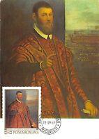 B3030 Maximum card Cartes Maximum Romania Art Hans Memling front/back scan