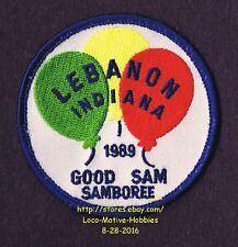LMH Patch 1989 GOOD SAM CLUB  Motor Home RV Camper SAMBOREE Sams Lebanon Balloon