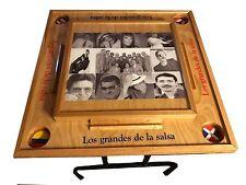 Salseros Domino Table (blak & white
